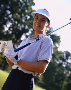Golfer Calculating Score